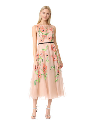 Lela Rose floral embroidered dress