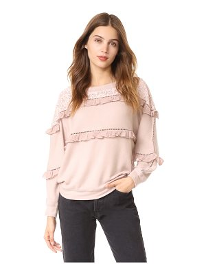LOVE SAM Off Shoulder Ruffled Pullover