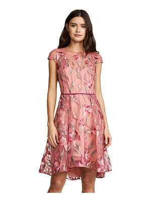 Notte by Marchesa cap sleeve cocktail dress