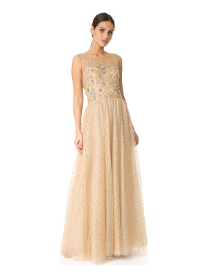 Marchesa Notte glitter tulle ball gown