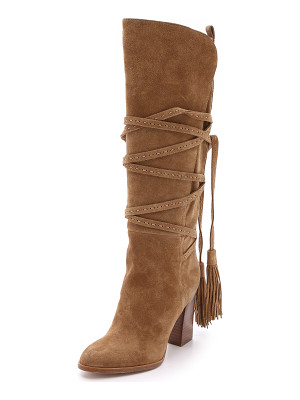 MICHAEL KORS COLLECTION Jessa Suede Wrap Boots