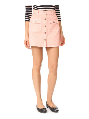 Minkpink sugar rusy safari denim skirt