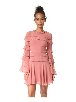 NICHOLAS Ruffle Insert Mini Dress