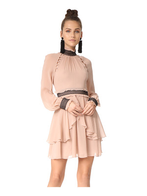 NICHOLAS Silk Georgette High Neck Mini Dress