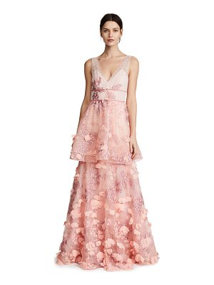 NOTTE BY MARCHESA Sleeveless Two Tiered Gown