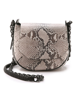 RAG & BONE Printed Python Bradbury Mini Chain Hobo Bag