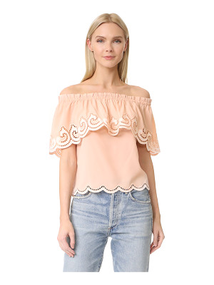 RAMY BROOK Kira Embroidered Off Shoulder Top