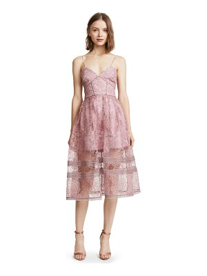 SELF-PORTRAIT regal rose midi dress