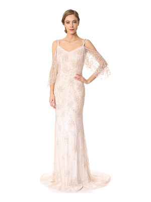 THEIA Layla Off The Shoulder Slip Gown