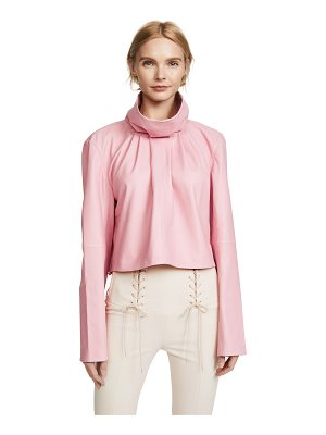 TIBI Sculpted Crop Top