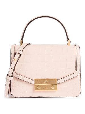 TORY BURCH Juliette Croc Mini Top Handle Cross Body Bag