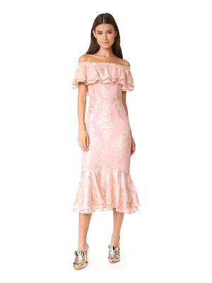 WE ARE KINDRED Blushing Lotus Off Shoulder Dress