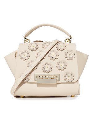 ZAC ZAC POSEN Floral Applique Eartha Iconic Top Handle Cross Body Bag