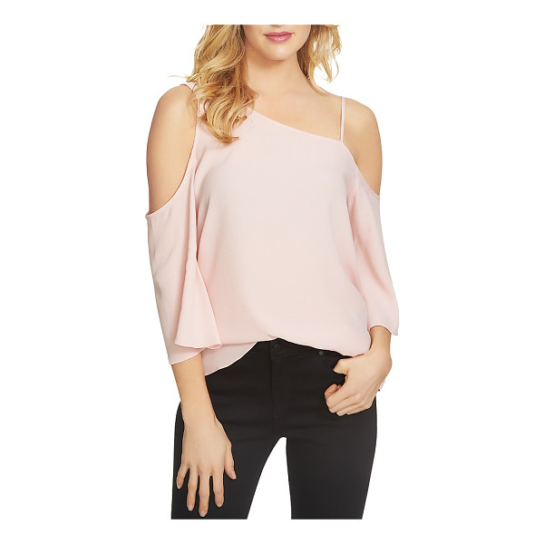 1.STATE Asymmetric Cold Shoulder Blouse - 1.state Asymmetric Cold Shoulder Blouse-Women