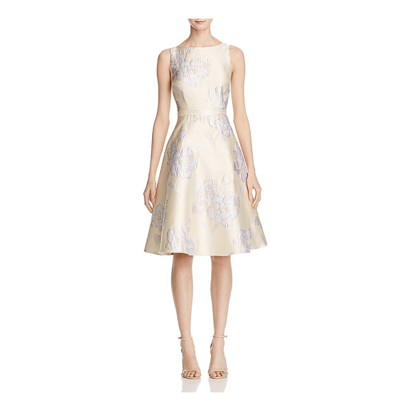 ADRIANNA PAPELL Floral Jacquard Dress - Adrianna Papell Floral Jacquard Dress-Women