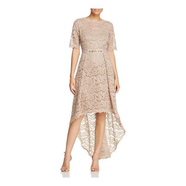 ADRIANNA PAPELL High/Low Lace Dress - Adrianna Papell High/Low Lace Dress-Women