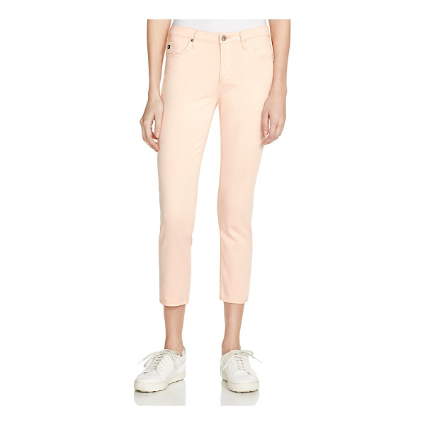 AG ADRIANO GOLDSCHMIED Prima Crop Jeans in Fresh Peach - 100% Exclusive - Ag Prima Crop Jeans in Fresh Peach - 100% Exclusive-Women