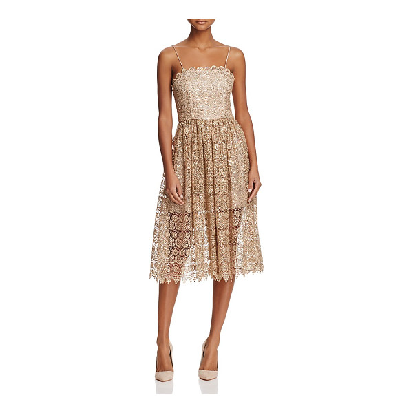 ALICE + OLIVIA Alice + Olivia Alma Embroidered Lace Party Dress - Alice + Olivia Alma Embroidered Lace Party Dress-Women