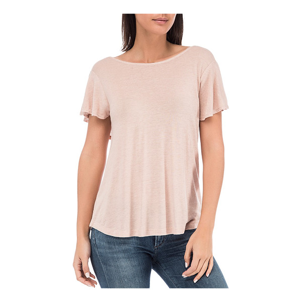B COLLECTION BY BOBEAU B Collection by Bobeau Ruffle Overlay Tee - B Collection by Bobeau Ruffle Overlay Tee-Women
