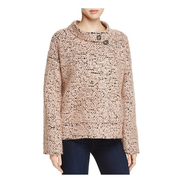 BADGLEY MISCHKA Button-Collar Tweed Jacket - Badgley Mischka Button-Collar Tweed Jacket-Women