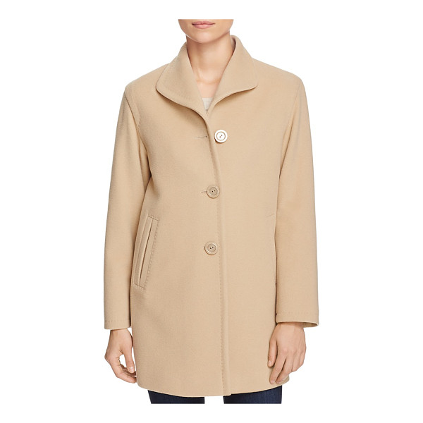 CINZIA ROCCA ICONS Topstitched Wool-Blend Coat - Cinzia Rocca Icons Topstitched Wool-Blend Coat-Women