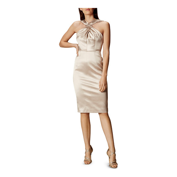 KAREN MILLEN Satin Crisscross Dress - Karen Millen Satin Crisscross Dress-Women