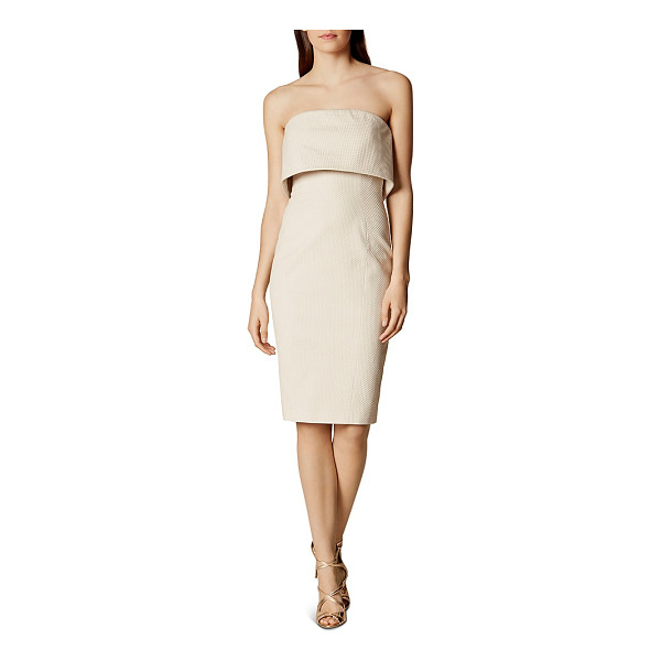 KAREN MILLEN Tiered Strapless Dress - Karen Millen Tiered Strapless Dress-Women