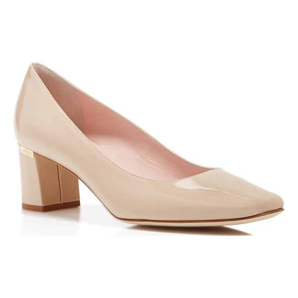 KATE SPADE NEW YORK kate spade new york Dolores Too Patent Leather Mid Heel Pumps - kate spade new york Dolores Too Patent Leather Mid Heel...