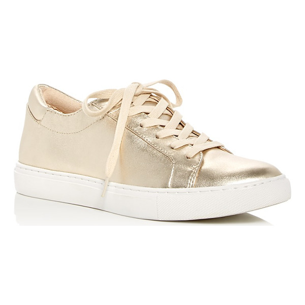 KENNETH COLE Kam Metallic Lace Up Sneakers - Kenneth Cole Kam Metallic Lace Up Sneakers-Shoes