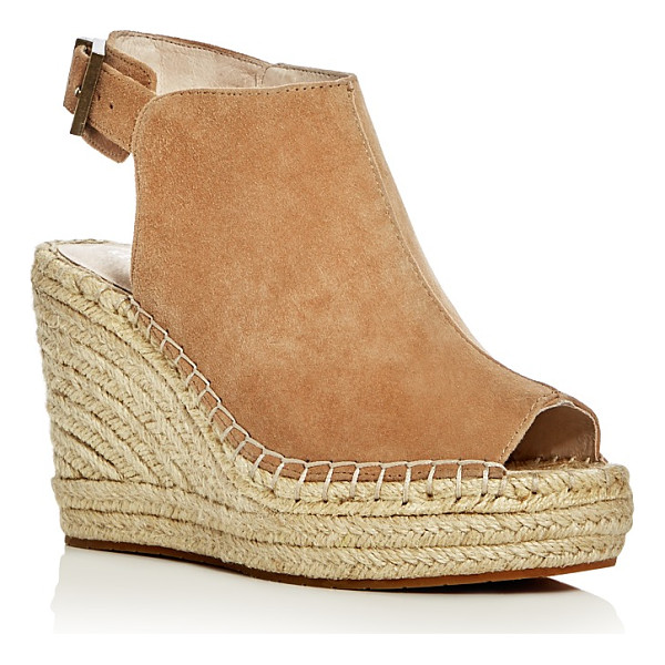 KENNETH COLE Olivia Suede Espadrille Wedge Platform Sandals - Kenneth Cole Olivia Suede Espadrille Wedge Platform...