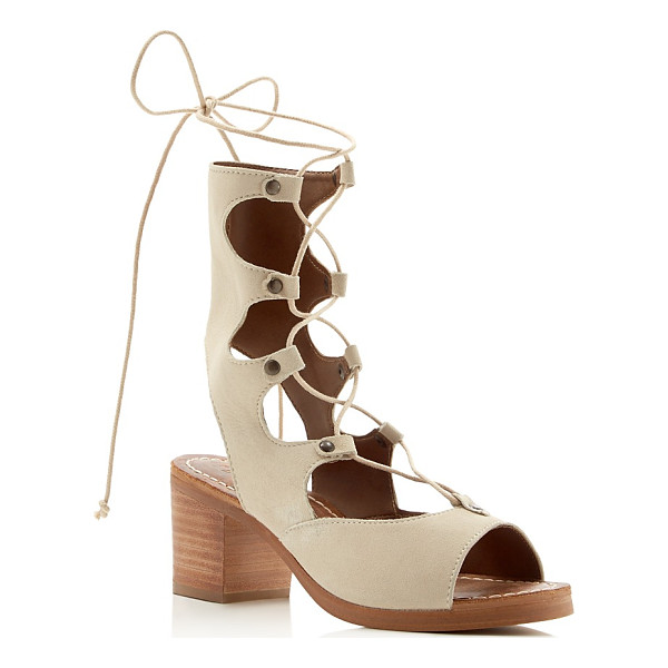 MATISSE Expo Lace Up Mid Heel Sandals - Matisse Expo Lace Up Mid Heel Sandals-Shoes