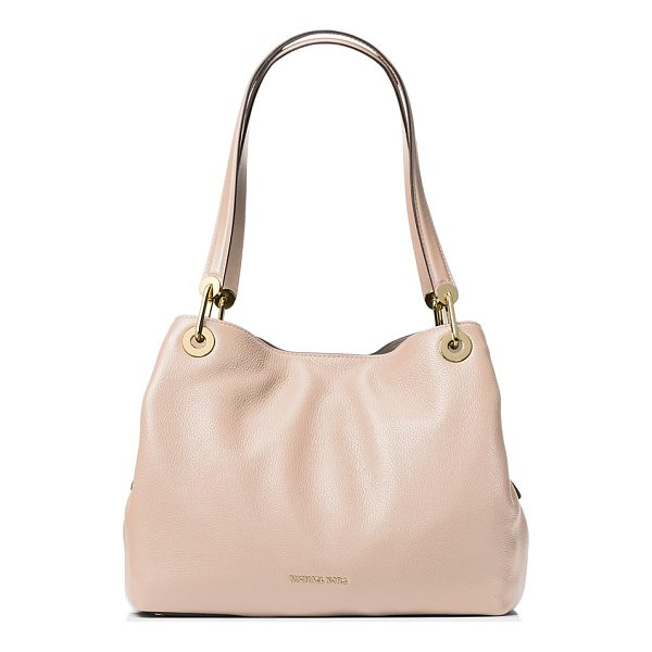 MICHAEL MICHAEL KORS Raven Large Pebbled Leather Shoulder Tote - Michael Michael Kors Raven Large Pebbled Leather Shoulder...