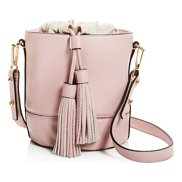 MILLY Astor Drawstring Leather Bucket Bag - Milly Astor Drawstring Leather Bucket Bag-Handbags