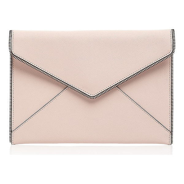REBECCA MINKOFF Leo Bride Tribe Saffiano Leather Clutch - Rebecca Minkoff Leo Bride Tribe Saffiano Leather...