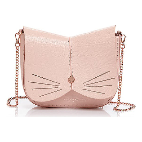 TED BAKER Feline Leather Crossbody - Ted Baker Feline Leather Crossbody-Handbags