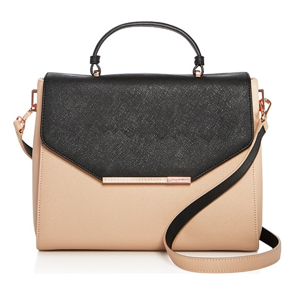 TED BAKER Textured Bar Envelope Color Block Leather Satchel - Ted Baker Textured Bar Envelope Color Block Leather...