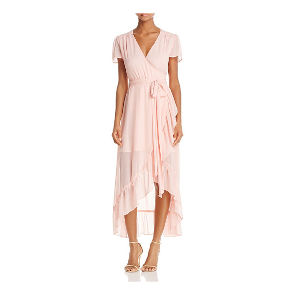 WAYF Ruffle Short-Sleeve Wrap Dress - 100% Exclusive - Wayf Ruffle Short-Sleeve Wrap Dress - 100% Exclusive-Women