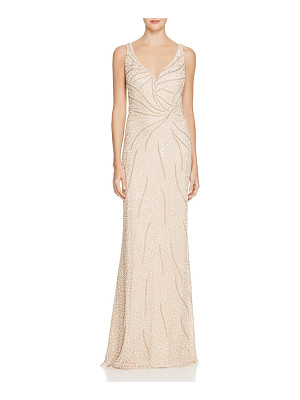 Aidan Mattox Embellished Mesh Illusion Gown