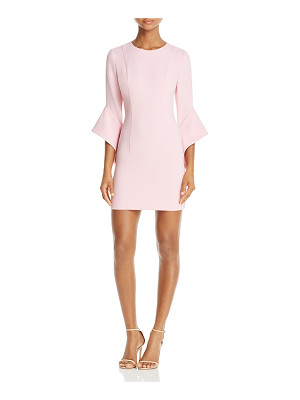 Black Halo Lorie Bell-Sleeve Mini Dress