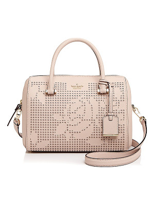 KATE SPADE NEW YORK Kate Spade New York Cameron Street Perforated Lanes Large Leather Satchel