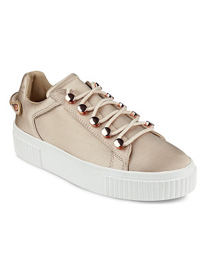 KENDALL AND KYLIE Kendall And Kylie Rae Satin Lace Up Platform Sneakers