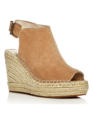 KENNETH COLE Olivia Suede Espadrille Wedge Platform Sandals