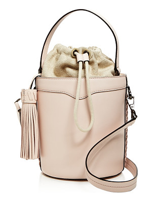 REBECCA MINKOFF Whipstitch Top Handle Leather Bucket Bag - 100% Exclusive