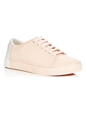 THEY NEW YORK Two Tone Lace Up Sneakers