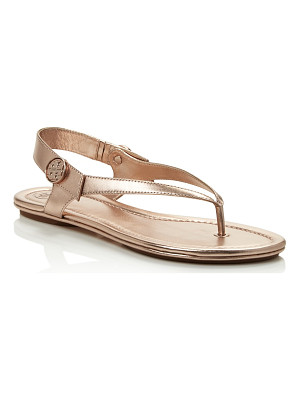 TORY BURCH Minnie Metallic Thong Sandals