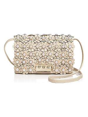 ZAC ZAC POSEN Earthette Faux-Pearl Floral Leather Crossbody