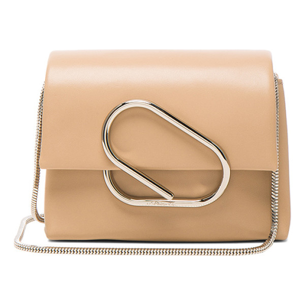 3.1 PHILLIP LIM Alix Micro Crossbody Bag - Genuine leather with twill fabric lining and silver-tone...