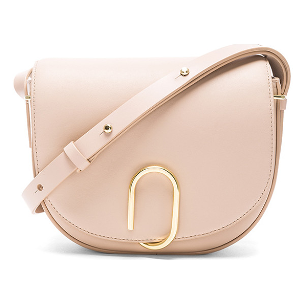 3.1 PHILLIP LIM Alix Saddle Crossbody Bag - Genuine leather with canvas fabric lining and gold-tone
