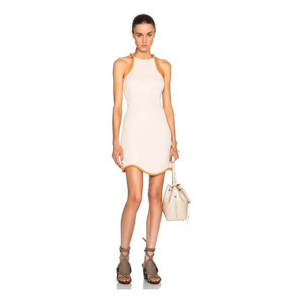 3.1 PHILLIP LIM Cut in freeform hem cotton dress - Self: 100% cotton - Contrast Fabric: 100% silk.  Made in...