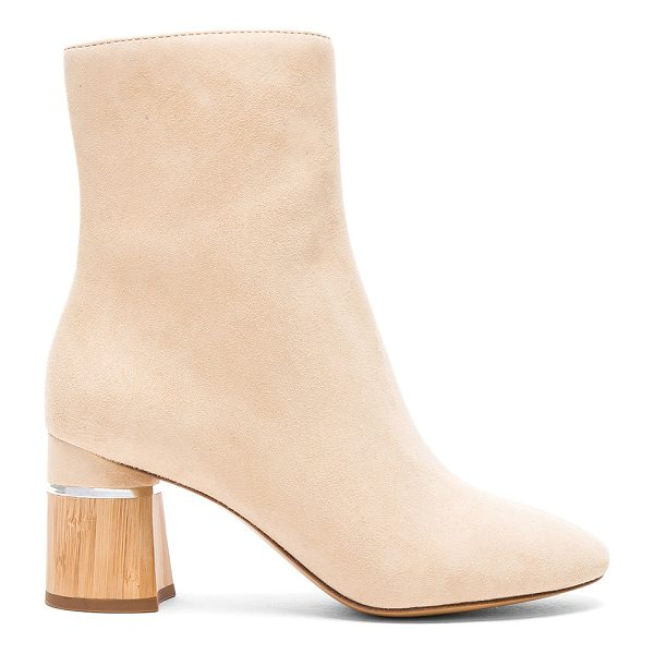 3.1 PHILLIP LIM Leather Drum Boots - Suede upper with leather sole.  Made in China.  Shaft...